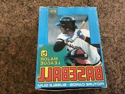 1979 topps baseball wax pack from fresh box