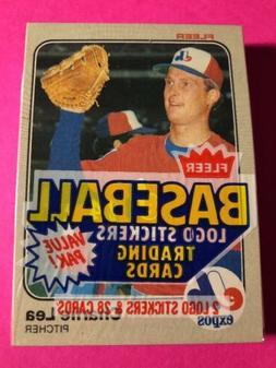 1983 Fleer Baseball Sealed Cello Box Pack BOGGS SANDBERG GWY
