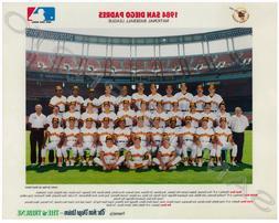 1984 SAN DIEGO PADRES BASEBALL WORLD SERIES 8X10 TEAM PHOTO
