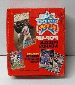 1987 Donruss Major League Pop-up Baseball Card & Puzzzle Pie
