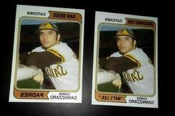 2 1974 Style San Diego Padres Chris Cannizzaro Custom Handma