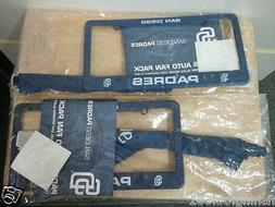 2 x San Diego Padres Auto Fan Packs Static Cling Decal + Pla