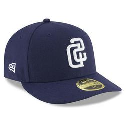 New Era 5950 San Diego Padres HOME Low Profile Fitted Hat  M