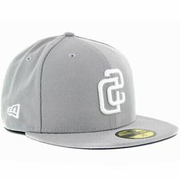 New Era 59Fifty San Diego Padres GY WH Fitted Hat  Men's MLB