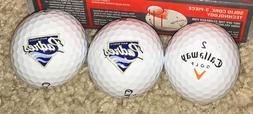 6 Callaway Golf Balls HX Hot With San Diego Padres Logo Base
