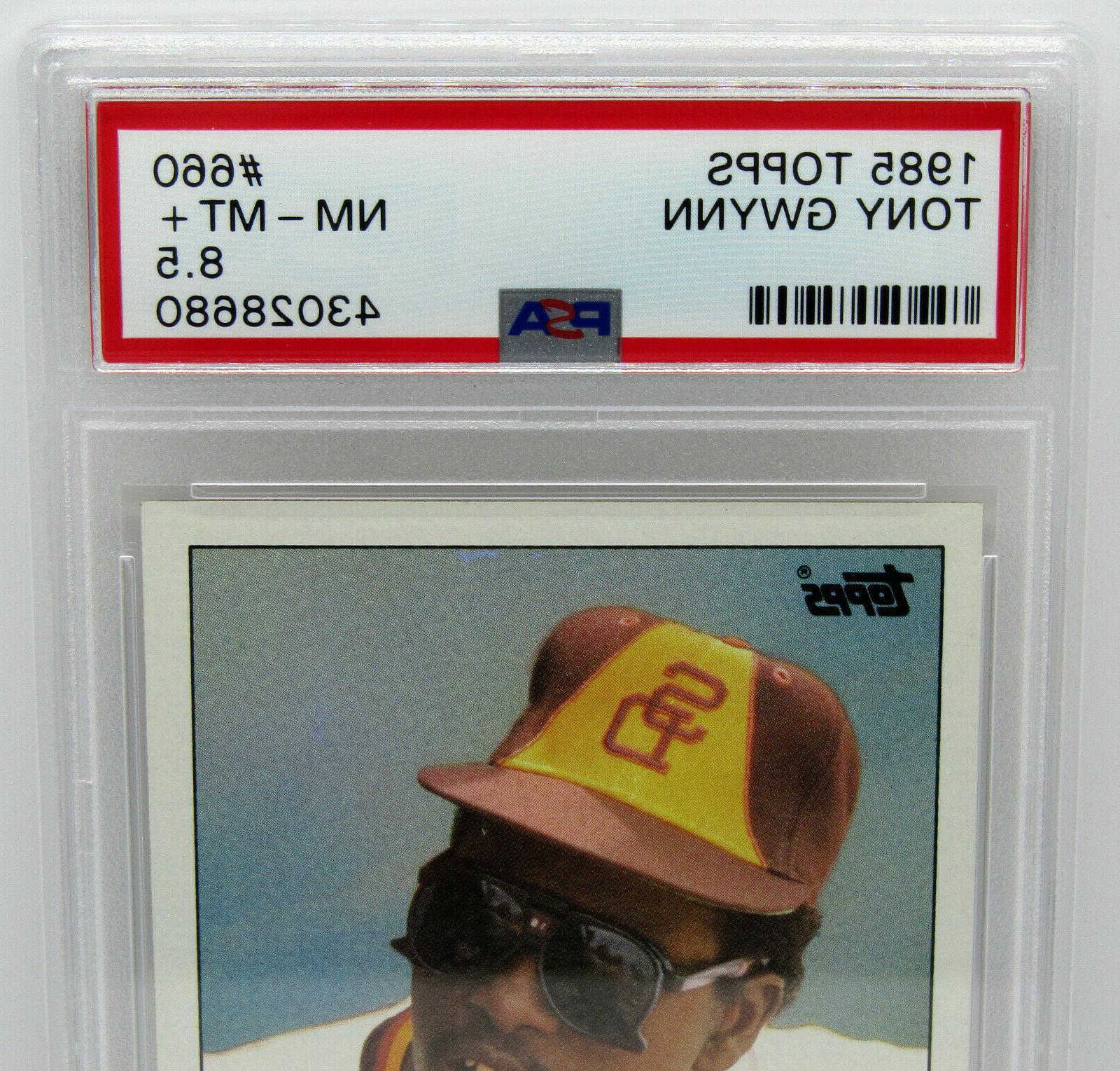 1985 Tony Gwynn San Padres #660 Graded PSA NM-MT+ 8.5