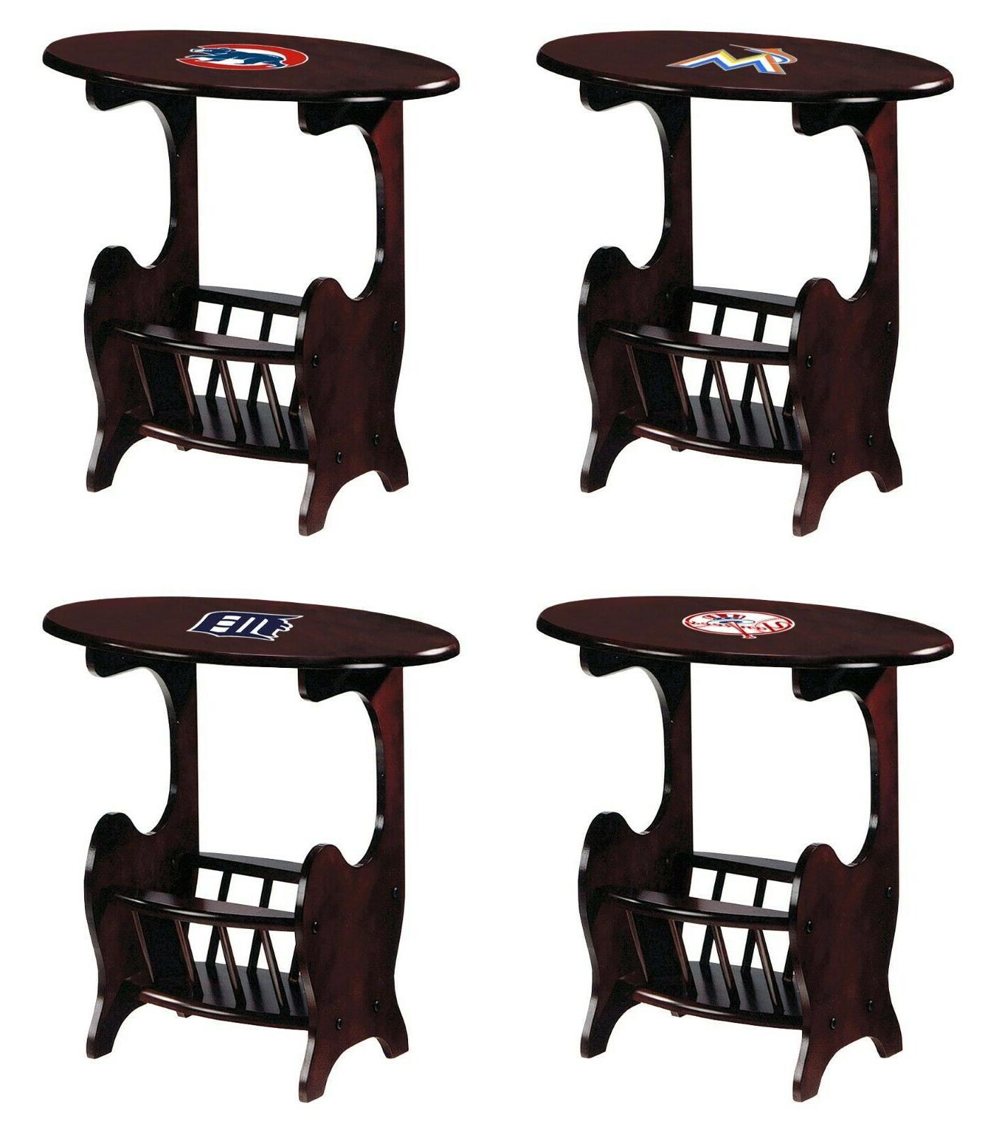 end table magazine rack nightstand cherry finish