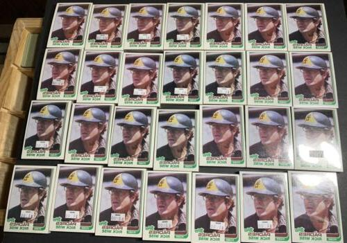 lot of 28 1982 topps san diego