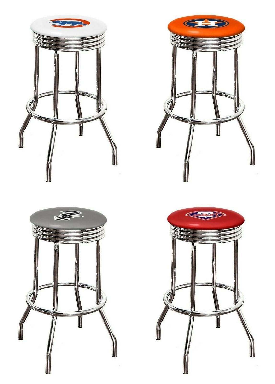 mlb bar stool 29 tall chrome retro