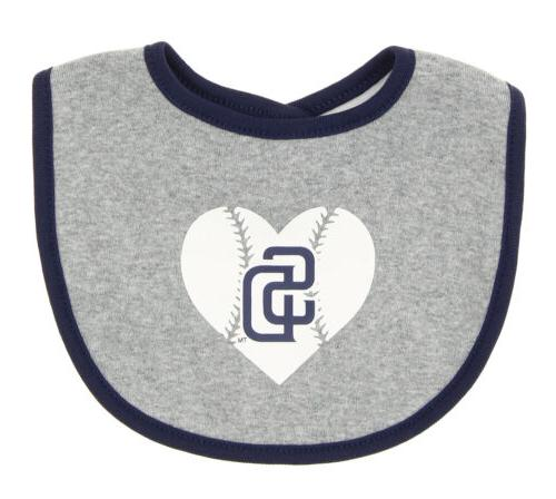 Diego Padres Play Heart Creeper, Bootie