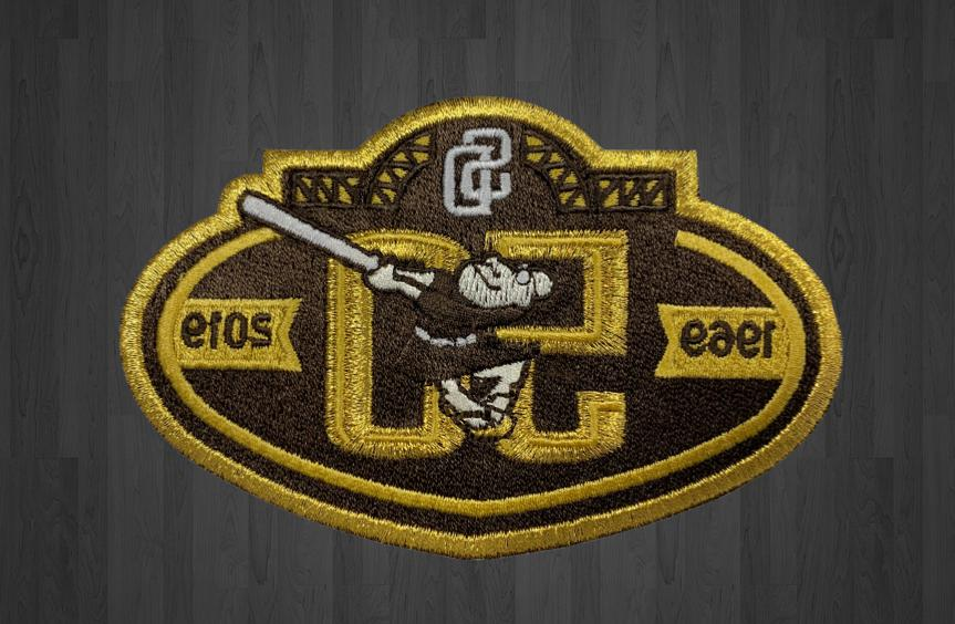padres 50th anniversary patch 2019 san diego