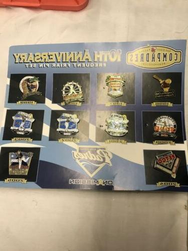 san diego padres 10th anniversary pin set