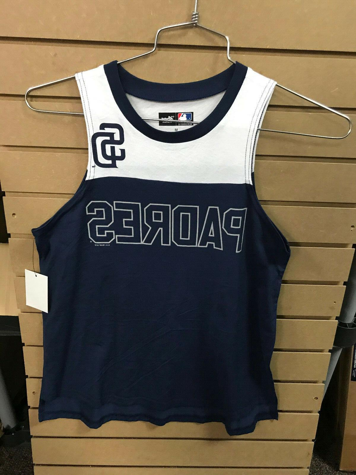 san diego padres coin toss tank womens