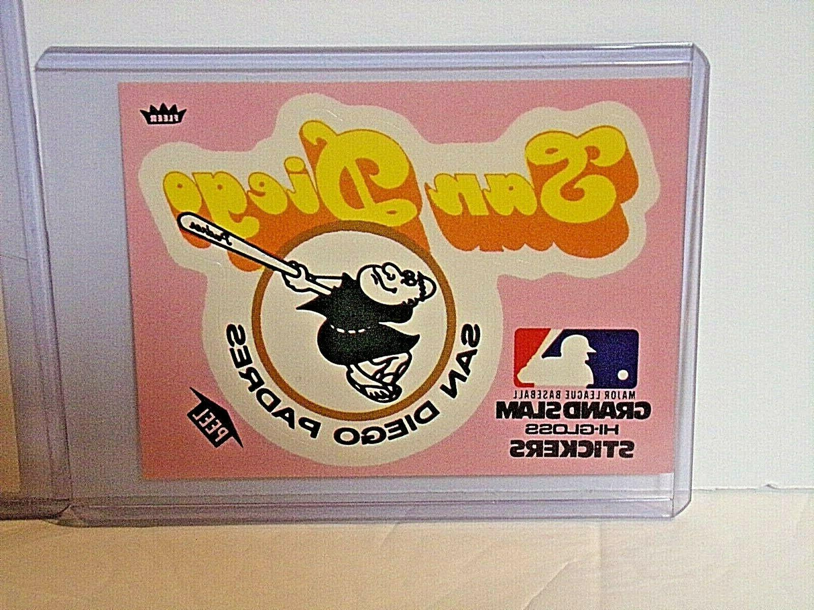 San Padres Grand Slam Stickers 1977 Sleeved