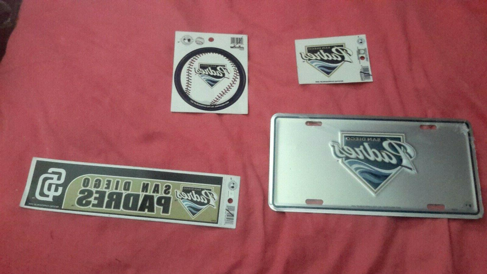 san diego padres lot license plate bumper
