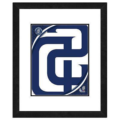 san diego padres team logo framed print
