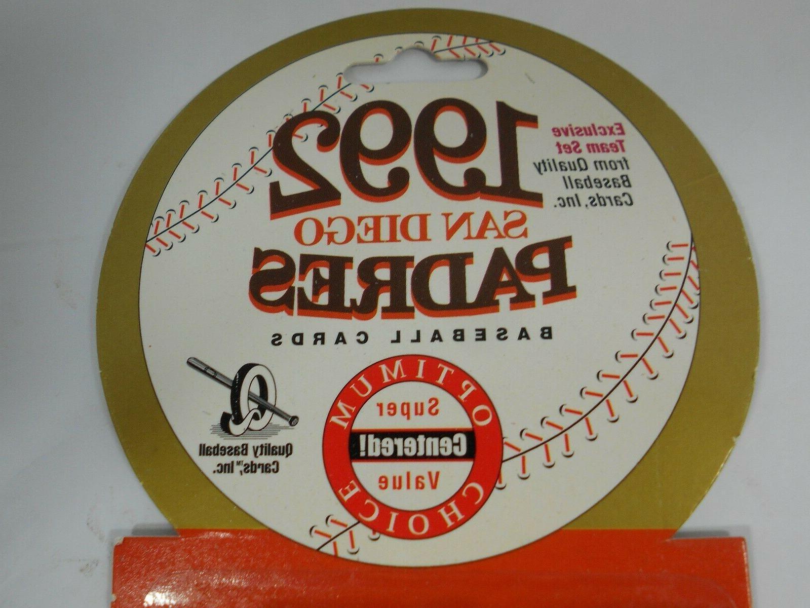 Sealed Set San Padres 24 Cards MLB Upper