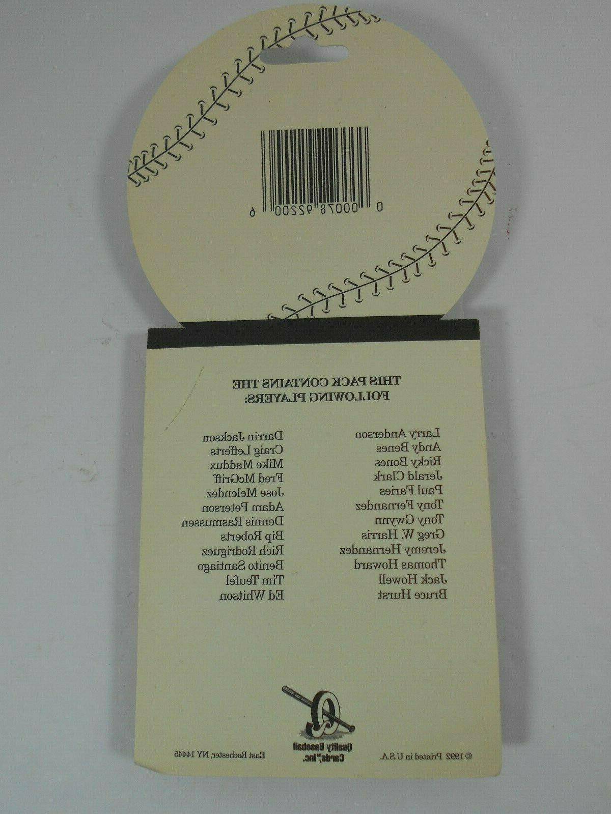 Sealed Team Set San Padres Cards Quality Upper