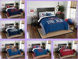 MLB Licensed 3 Piece Full Queen Comforter & Sham Bed Set In