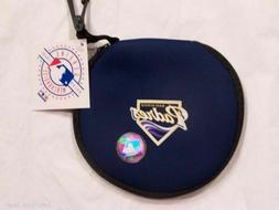MLB San Diego Padres 8 Disk CD Disk Case Holder Zip