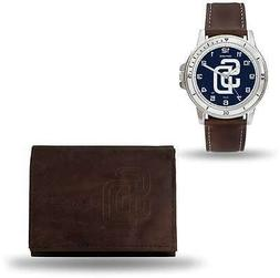 MLB San Diego Padres Brown Faux Leather Watch & Wallet Set