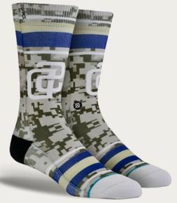 STANCE MLB San Diego Padres Diamond Tan Olive Blue White Cre