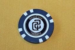MLB, SD San Diego Padres, Baseball, Golf Ball Marker Poker C