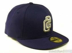 New Era 59Fifty Hat Mens MLB San Diego Padres Road Wool Coll