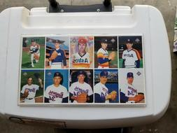 Nolan Ryan Farewell Baseball Card Set Full Sheet in plexi co