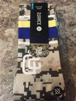 NWT Stance MLB San Diego Padres Digital Camouflage Crew Sock