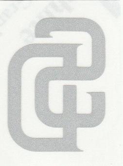 REFLECTIVE San Diego Padres 2 inch fire helmet decal sticker