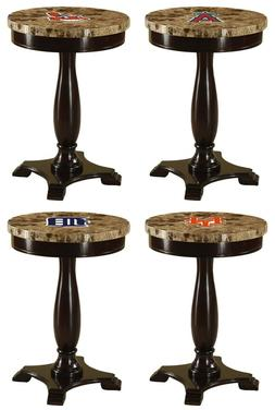 round end table night stand mlb team