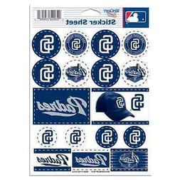 san diego padres 5 x7 logo sticker