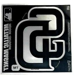 "San Diego Padres 6"" Metallic MAGNET Silver Style Vinyl DieCu"