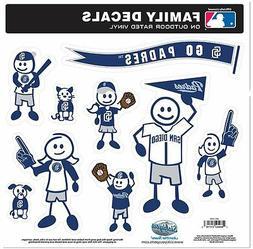 San Diego Padres 9 Piece Jumbo Family Decals  Auto Car Stick