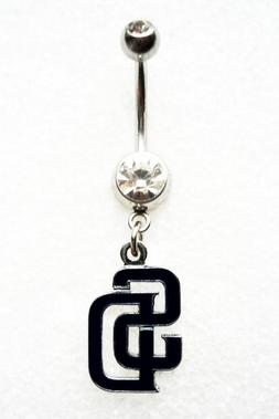 SAN DIEGO PADRES BASEBALL Navel Belly Button Ring Body Jewel