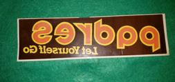 San Diego Padres Bumper Sticker 1984 Jack in the Box coupon