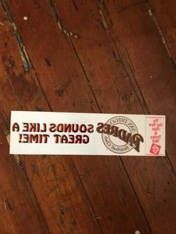 San Diego Padres Bumper Sticker 1990
