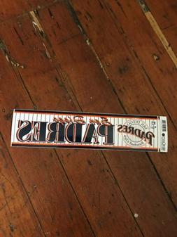 San Diego Padres Bumper Sticker 1996