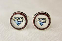 San Diego Padres Cuff Links made from Baseball Trading Cards