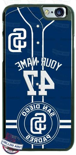SAN DIEGO PADRES CUSTOM PHONE CASE COVER NAME&No. FOR iPHONE