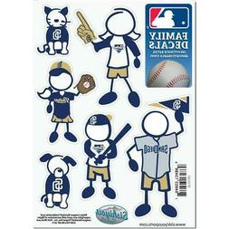 San Diego Padres Family Decals 6 Pack  Small Auto Car Sticke