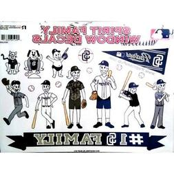 San Diego Padres Family Spirit Decal Sheet Window Stickers A