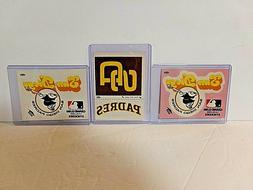 San Diego Padres Fleer Grand Slam Stickers 1977 Sleeved
