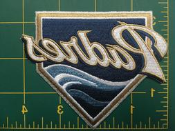 "SAN DIEGO PADRES HOME PLATE MLB SLEEVE PATCH iron-on 4"" size"