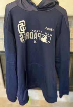 San Diego Padres Hoodie Sweatshirt 2XL DARK BLUE