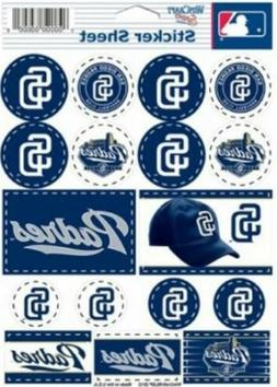 San Diego Padres ~ Lot of  Stickers ~ 5x7 Inch Sheet