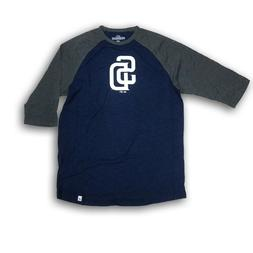San Diego Padres Majestic Men's 3/4's Sleeve Navy Blue/Gray