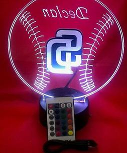 San Diego Padres MLB Baseball Light Up Lamp LED With Remote