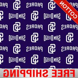 """San Diego Padres MLB Cotton Fabric - 58"""" Wide - Style# 14341"""